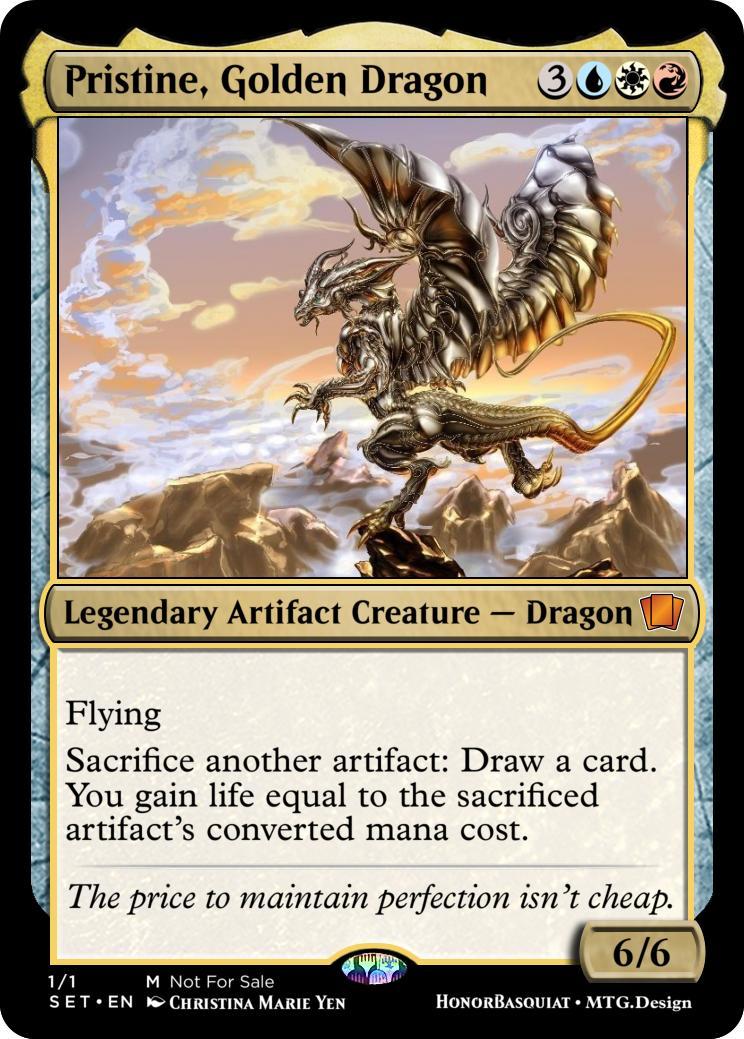 Temporal Portal Pristine Golden Dragon Custom Card Creation